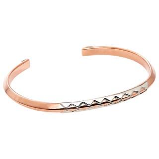 Handmade Copper and Sterling Silver Crocodile Unisex Cuff Bracelet (Mexico)