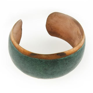 Hand-crafted Copper Patina Cuff Bracelet (Mexico)
