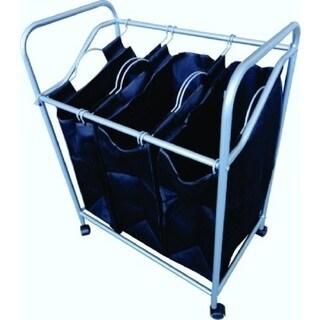 3-Bin Mesh Laundry Sorter
