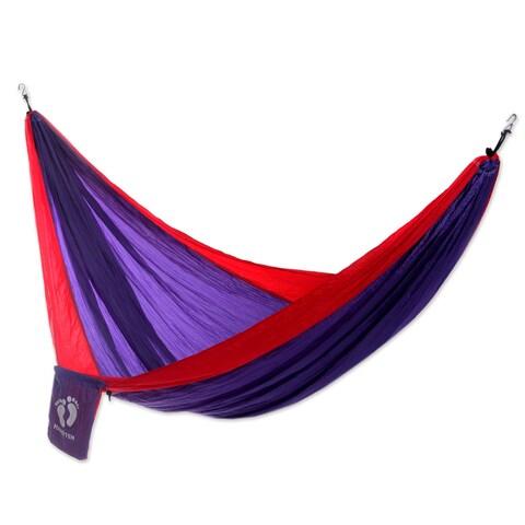 Handmade Hang Ten Parachute 'Tropics for HANG TEN' Hammock (Single) (Indonesia)