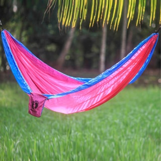 Handmade Hang Ten Parachute 'Party for HANG TEN' Hammock (Single) (Indonesia)