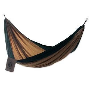 Handmade Hang Ten Parachute 'Jungle for HANG TEN' Hammock (Single) (Indonesia)