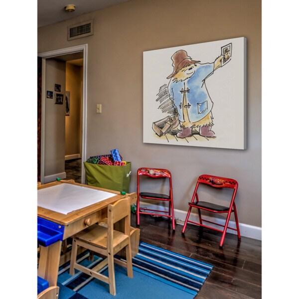 Peggy Fortnum 'Paddington Bear Postcard' Canvas Art - Multi-color