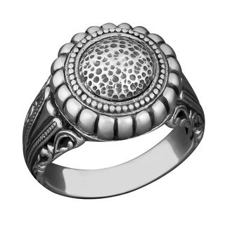 Handmade Sterling Silver 'Balinese Art' Cawi Ring (Indonesia)