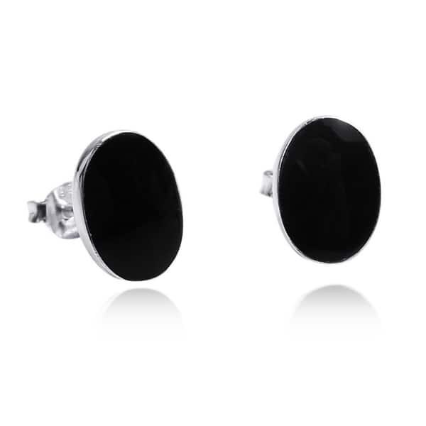 Earring Stud Gemstone Blue Onyx Gift 925 Sterling Silver Earring Stud Handmade Earring Blue Onyx Earring Stud
