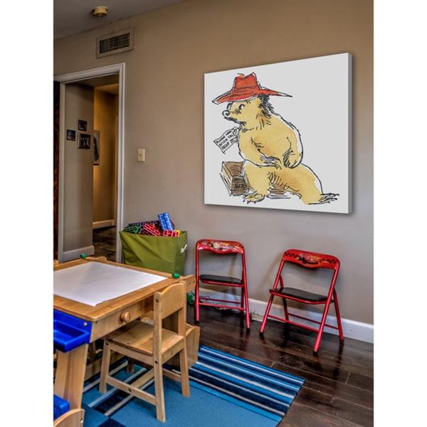 Peggy Fortnum 'Paddington Bear Look After This Bear' Canvas Art - Multi-color