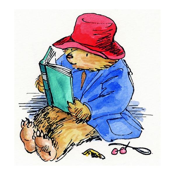 Peggy Fortnum 'Paddington Bear Reading is Fun' Canvas Art - Multi-color