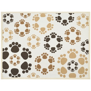 "Fashion Forward Cotton Mat 19""x25.75""-Bone & Paws"