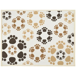 "Fashion Forward Cotton Mat 13""X19""-Bone & Paws"