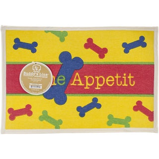 "Fashion Forward Cotton Mat 13""X9""-Bone Appetit"