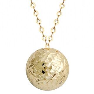 Fremada 10k Yellow Gold Diamond-cut Petite Circle 18-inch Necklace