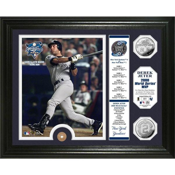f8485eda6 Shop Derek Jeter 2000 World Series MVP Silver Coin and Subway Token Photo  Mint - Free Shipping Today - Overstock - 9556407