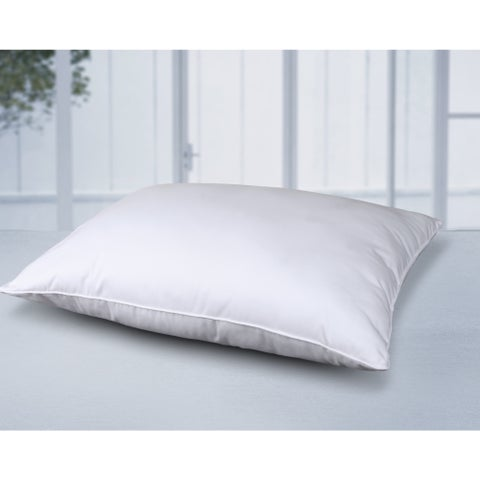 Cottonloft Self-Cooling Multi Position Feather Core and Cotton Filled Soft Bed Pillow with Cotton Cover - White