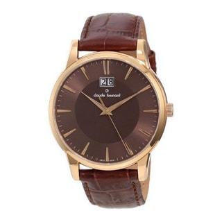 Claude Bernard Men's 63003 37R BRIR Classic Brown Dial Brown Leather Watch