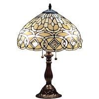 Amora Lighting Tiffany Style 21-inch Geometric Table Lamp