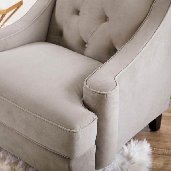 Awe Inspiring Shop Abbyson Claridge Taupe Velvet Tufted Armchair On Sale Pabps2019 Chair Design Images Pabps2019Com