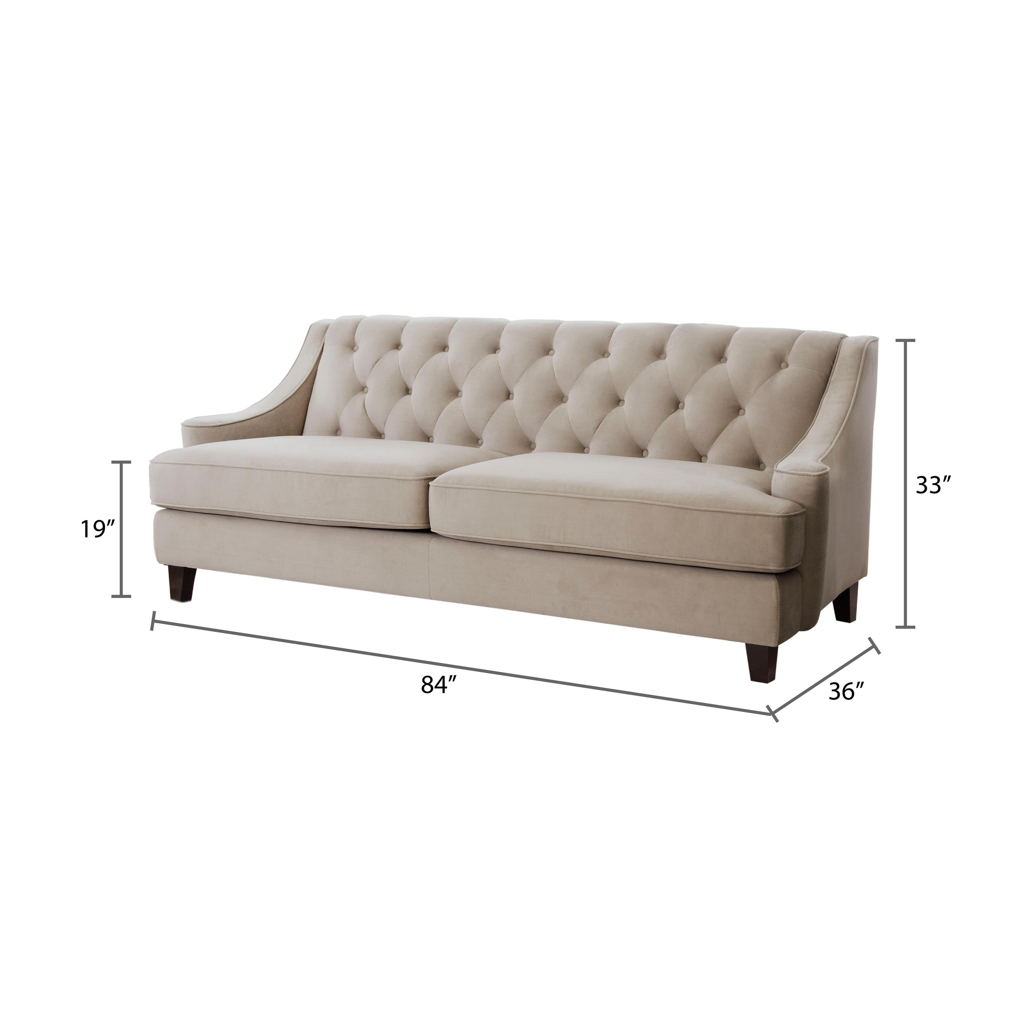 Taupe Velvet Sofa: Tufted Back Sofa Meaning