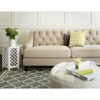 Abbyson Claridge Taupe Velvet Fabric Tufted Sofa