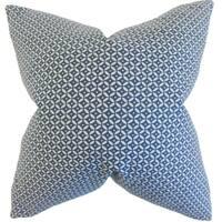 Nima Geometric Indigo Down and Feather Filled Throw Pillow