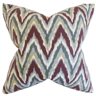 Matisse Zigzag Currant Down and Feather Filled Throw Pillow