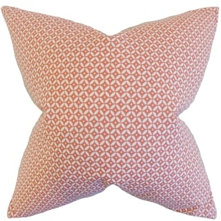 Nima Geometric Blush Down and Feather Filled Throw Pillow