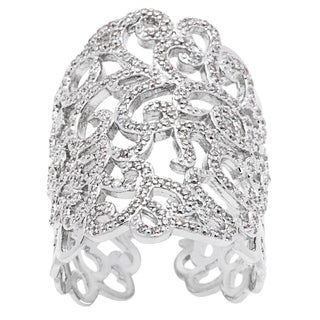 Simon Frank 'Beautiful Light' Collection Open Lace CZ Ring - Silver