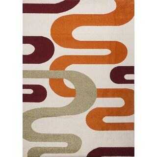 Multi-colored Abstract Estella Turkish Area Rug (5'3 x 7'3)