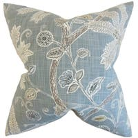 Mead Floral Feather FIlled Mineral Throw Pillow