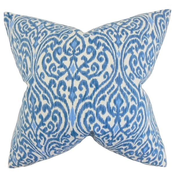 Ennis Ikat Feather Filled Blue Throw Pillow. Opens flyout.