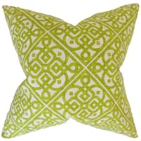 Auden Geometric Feather Filled Keylime Throw Pillow
