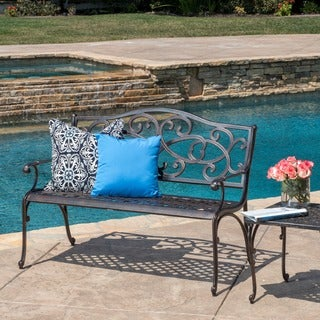 McKinley Cast Outdoor Bench by Christopher Knight Home