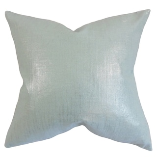 Florin Solid Feather Filled Baby Blue Throw Pillow