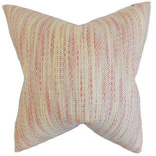 Lakota Stripes Feather Filled Blossom Throw Pillow