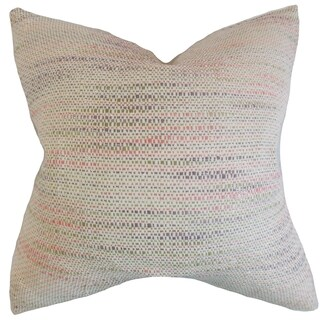 Lakota Stripes Bubble Gum Bubble Gum Throw Feather and Down Filled Throw Pillow