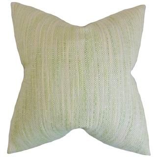 Lakota Stripes Feather Filled Celery Throw Pillow