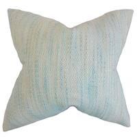 Lakota Stripes Feather Filled Baby Blue Throw Pillow