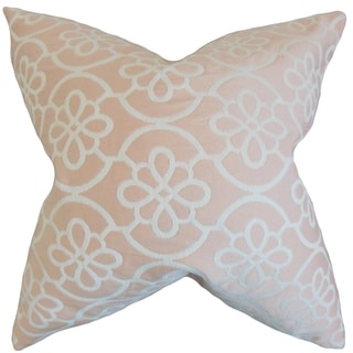 Indre Geometric Feather Filled Pastel Throw Pillow
