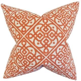 Auden Geometric Feather Filled Adobe Throw Pillow