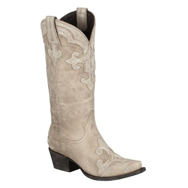 aca32927a6d Shop Lane Boots Women's 'Dalton' Ivory Leather Cowboy Boots - Free ...