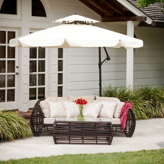 Outdoor Baja Banana Canopy Umbrella with Base by Christopher Knight Home (3 options available)