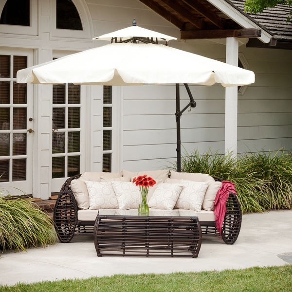Outdoor Baja Banana Canopy Umbrella by Christopher Knight Home, Base Included. Opens flyout.