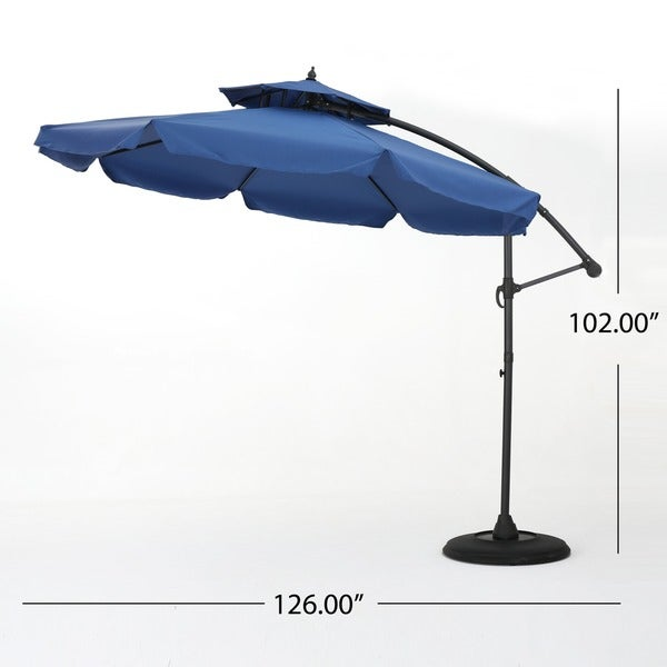 Outdoor Baja Banana Canopy Umbrella by Christopher Knight Home, Base Included