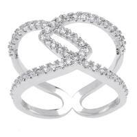 Simon Frank 'Beautiful Light' Collection CZ Fashion Ring - Silver