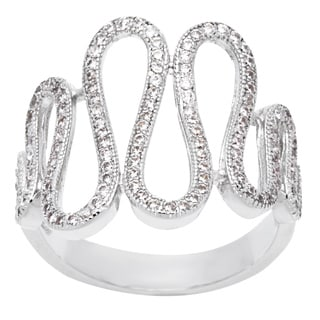 Simon Frank 'Beautiful Light' Collection Micro Pave CZ Wave Ring