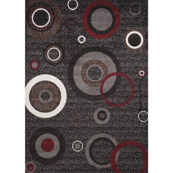 Multi-colored Circle Estella Turkish Area Rug (8' x 11')