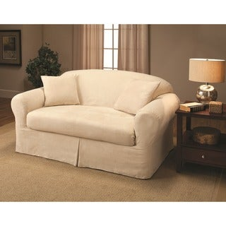 Link to Sanctuary Suede 2-piece Loveseat Slipcover Similar Items in Slipcovers & Furniture Covers