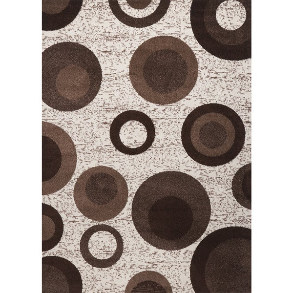 Brown Circle Estella Turkish Area Rug (8' x 11')