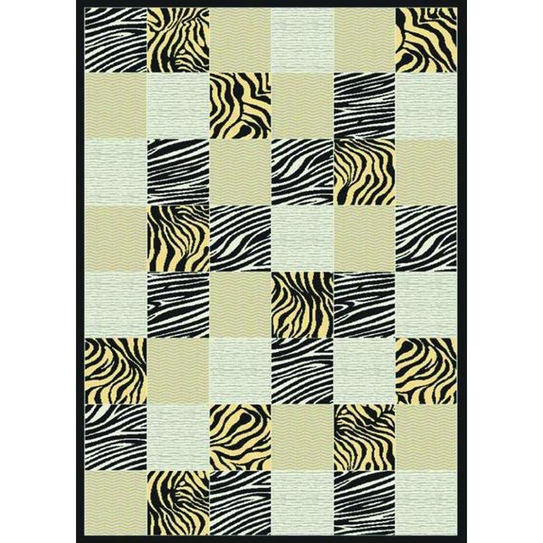 Multi-colored Checker Starlite Turkish Area Rug (8' x 11')