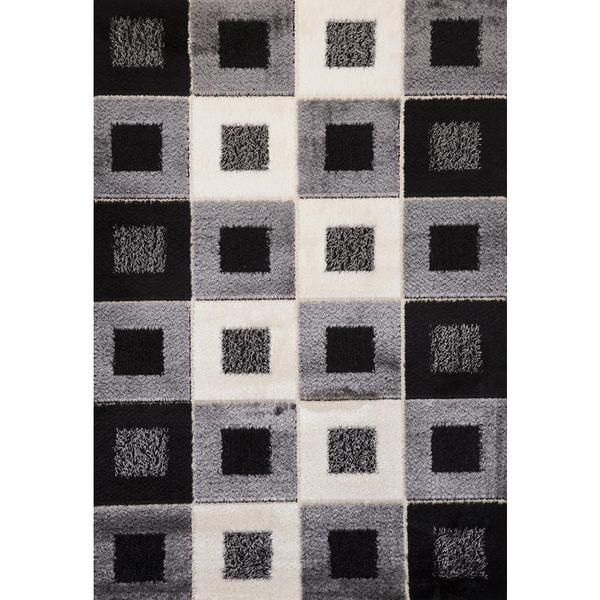Stone Checkered Signature Turkish Area Rug