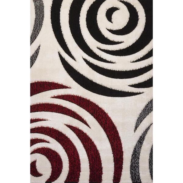 Black and Red Rose Signature Turkish Area Rug - 8' x 11'